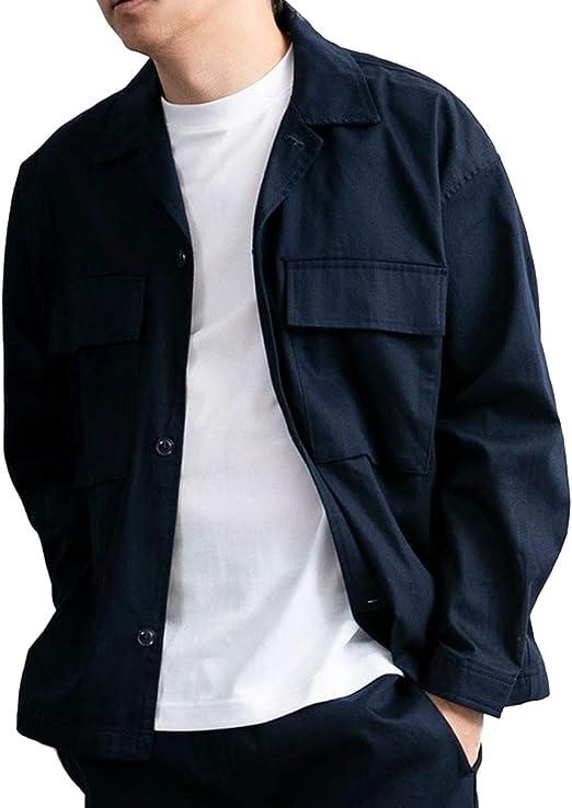 ジェネレス シャツジャケット CPOジャケット オーバーサイズ ゆったり ブルゾン メンズ