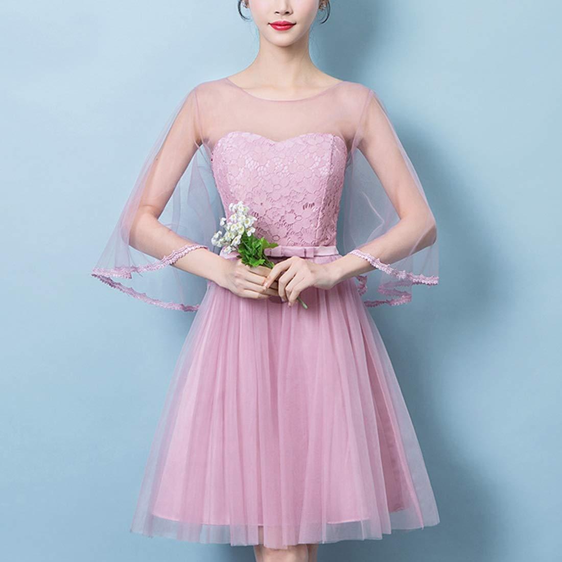 Women's Embroidery Long Evening Dress Bridesmaid Dress (Design    28)
