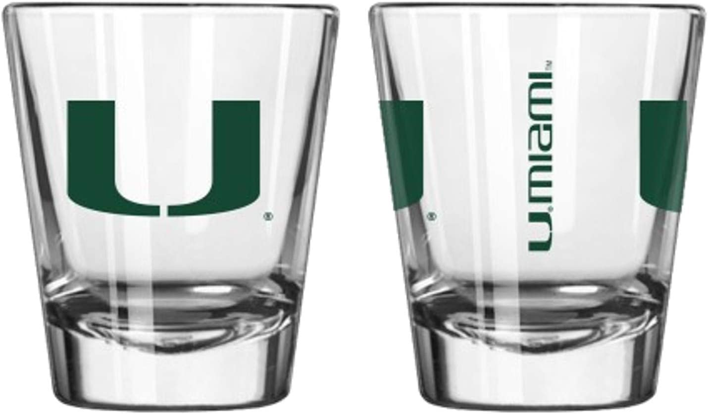 Official Fan Shop Authentic NCAA Logo 2 oz. Shot Glasses 2-Pack Bundle. Show Your School and Team Pride at Home, Your Bar or at The Tailgate.
