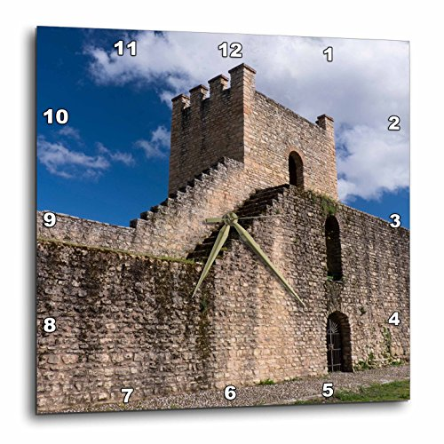 3dRose Danita Delimont - Spain - Spain, Andalusia, The historic roman stone wall at the edge of Ronda. - 15x15 Wall Clock (dpp_277900_3) by 3dRose