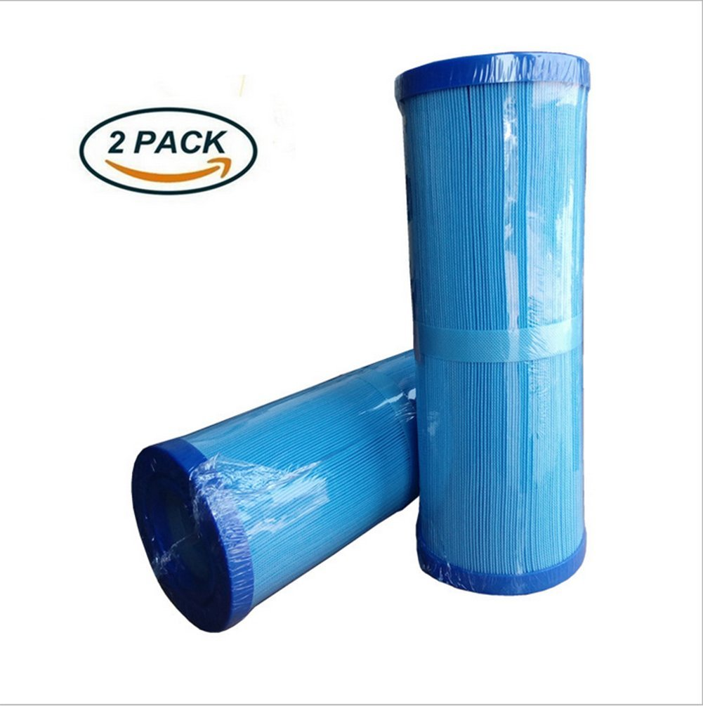 OOFAY LIGHT® Hot Tub Filter Filtration Replacement Cartridge Thickened Paper Core Layer Microban Cover Swimming Paddling Pool Blue(2Pack)
