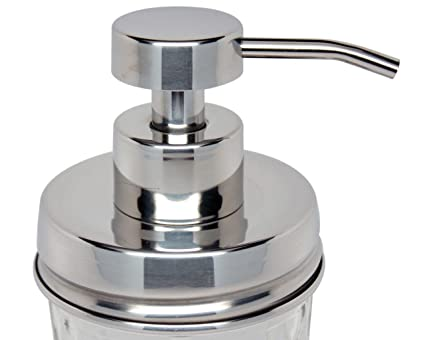 3e4d6e4fa7d Image Unavailable. Image not available for. Color  Foaming Stainless Steel  Soap Pump Dispenser Lid Kit for Regular Mouth Mason Jars ...