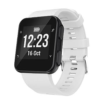 Correa de repuesto de silicona para reloj inteligente Garmin Forerunner 35., color blanco: Amazon.es: Deportes y aire libre