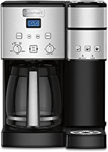Cuisinart Coffee Center 12-Cup Coffeemaker and Single-Serve Brewer, Silver