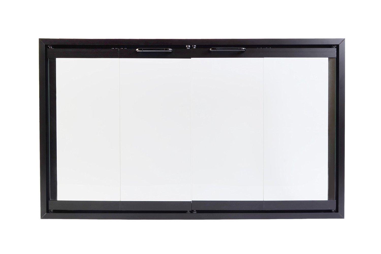 amazon com superior bi fold glass fireplace door easy to install