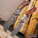 Wartech Buckshot Knives 2 PC Cleaver Combo Hiking Forest Etched...