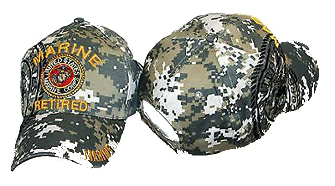 c422eb350cd Image Unavailable. Image not available for. Color  Embroidered ACU CAMO  USMC Marines Marine Retired Veteran Baseball Hat Cap