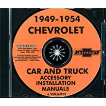 1949 1950 1951 1952 1953 1954 CHEVROLET FACTORY ACCESSORY INSTALLATION MANUAL on CD - CHEVY ACCESSORIES 49 50 51 52 53 54