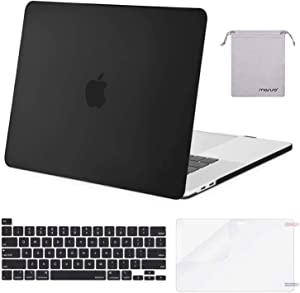 MOSISO MacBook Pro 16 inch Case 2019 Release A2141 with Touch Bar & Touch ID, Plastic Hard Shell Case & Keyboard Cover & Screen Protector & Storage Bag Compatible with MacBook Pro 16, Black