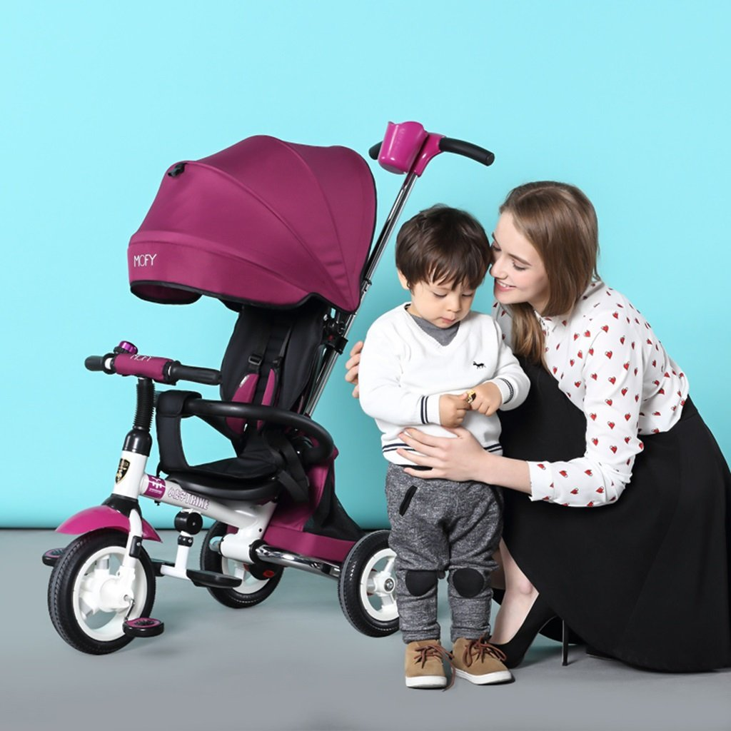 XQ T300子供用三輪車自転車キッズ自転車3-6歳パター用シートベルト 子ども用自転車 ( 色 : パープル ぱ゜ぷる ) B07CG8Z4WC パープル ぱ゜ぷる パープル ぱ゜ぷる