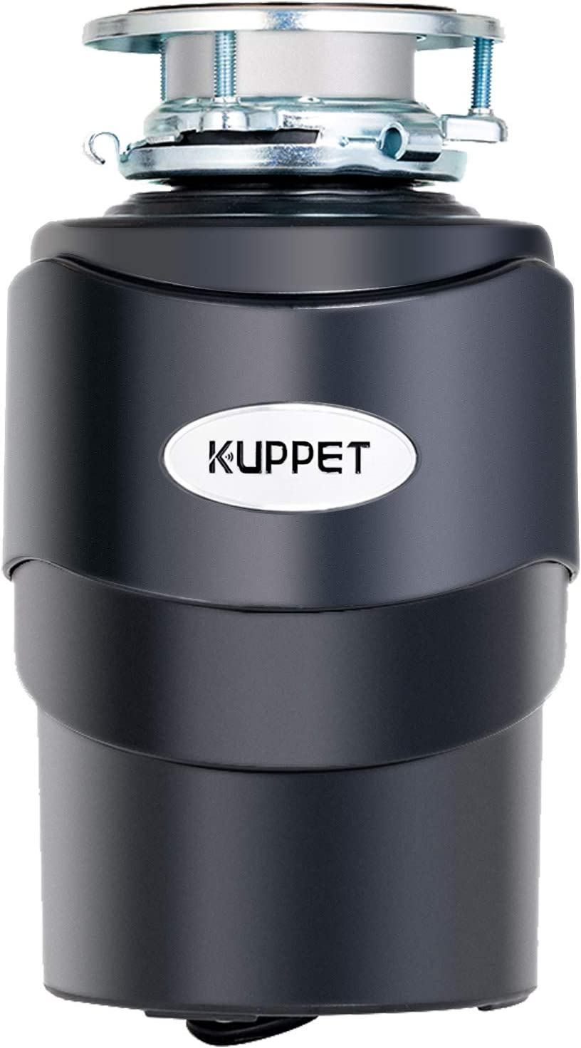 KUPPET Garbage Disposal with Power Cord, 1/2 HP, 40 oz Chamber Capacity