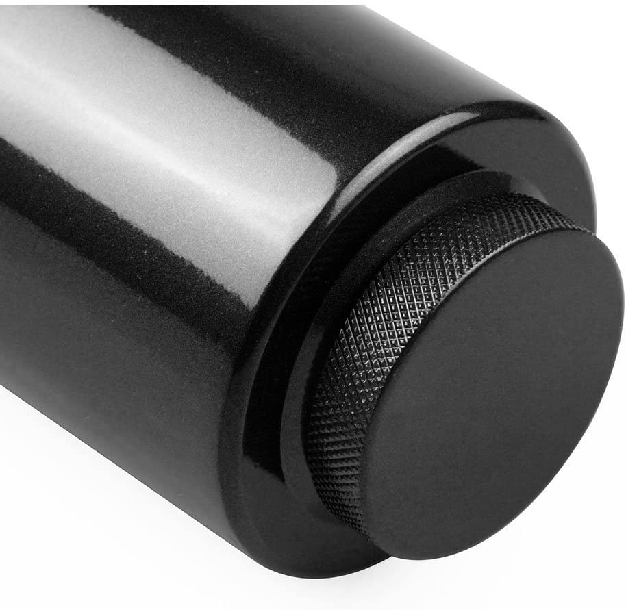 Universal Radiator Coolant Aluminum Catch Tank Overflow Reservoir Aluminum Black 800ml