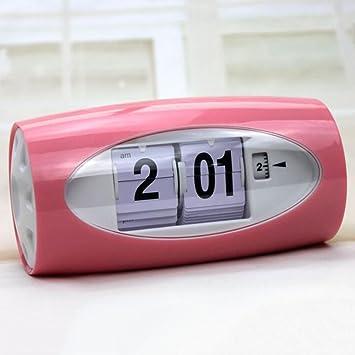 Clock Despertador Automático Página Conmutador Reloj Decoraciones De Escritorio Multifunción Digital Personalidad Simple Creatividad Adornos Estudio ...