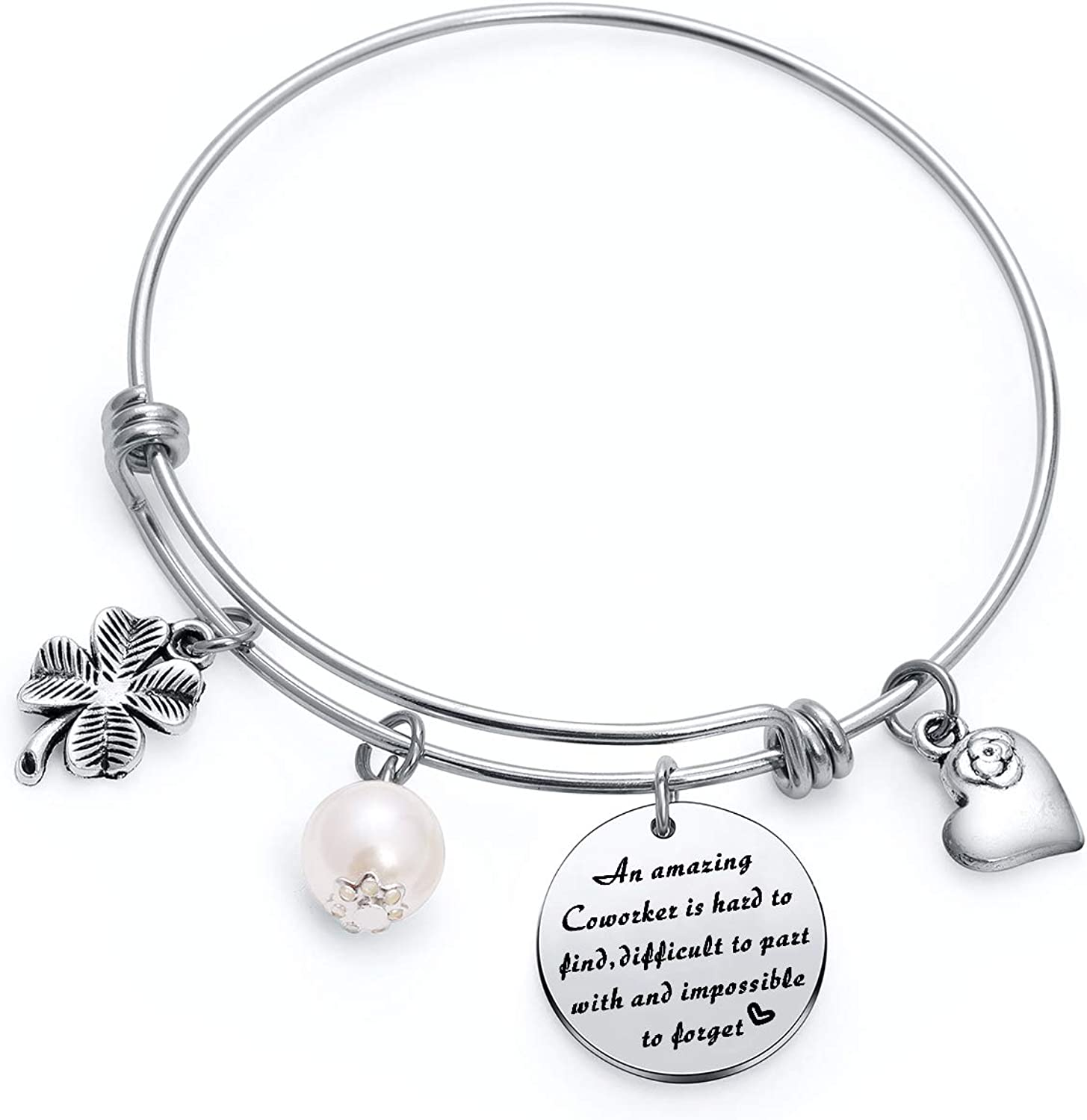 TzrNhm Blossom an Amazing Coworker is Hard to Find Difficult to Part with and Impossible to Forget Bangle Keychain Gfts for Coworkers,Business Partner,Boss,Friends
