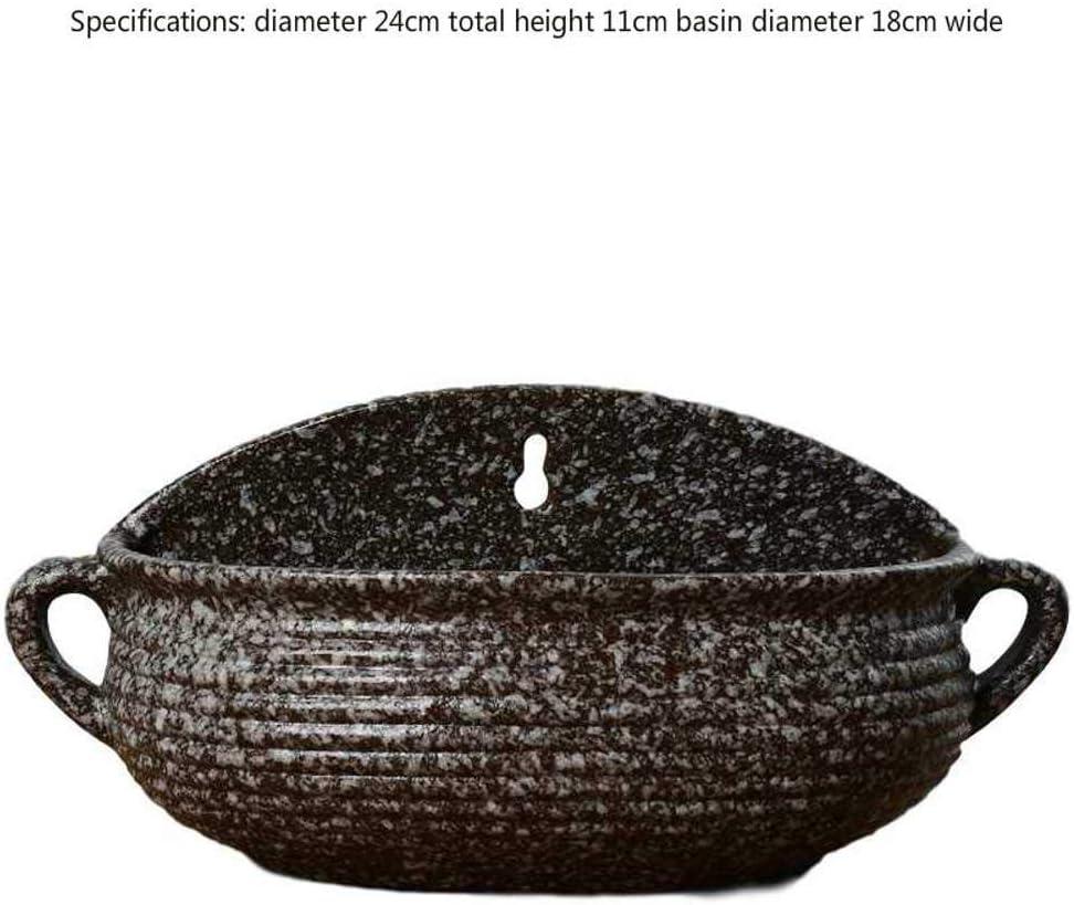 NOBRAND Maceta hidropónica para Colgar en la Pared Maceta de cerámica Balcón Creativo Europeo para Colgar Maceta Verde loag Colgando Maceta con Personalidad de múltiples Carnes