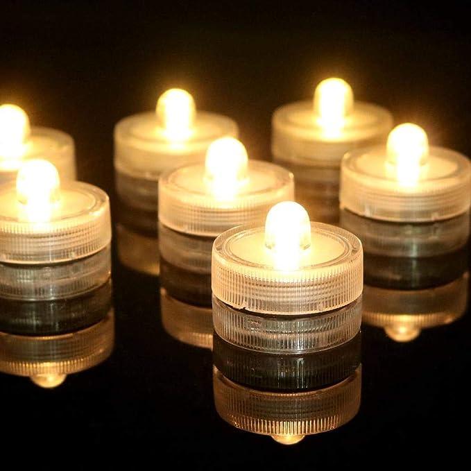 12 velas vela del LED luces de inmersión traje seco a velas ...