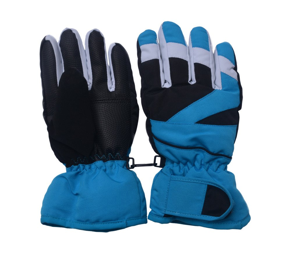 Lenikis Unisex Toddler & Kids Polyester Windproof & Waterproof Snow Ski Gloves (Ages 5-8) by Lenikis