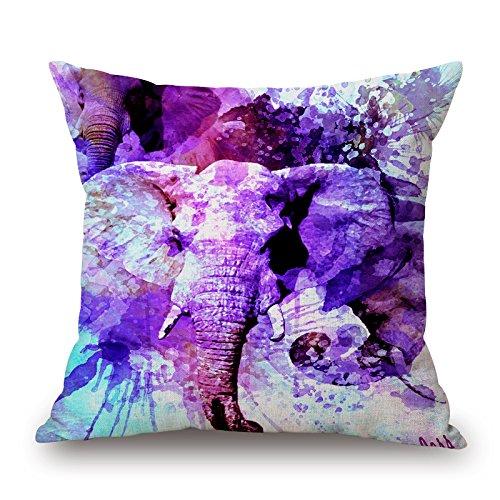 Artistdecor Pillow Shams 20 X 20 Inches / 50 By 50 Cm(each Side) Nice Choice For Bar Seat,bf,lover,boy Friend,lounge,relatives Elephant