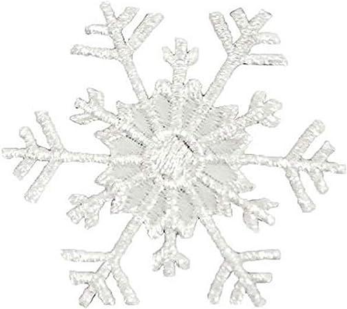 Silver Expo International Christmas Medium Star Snowflake Iron-on Applique Trim Embellishment 2-Pack