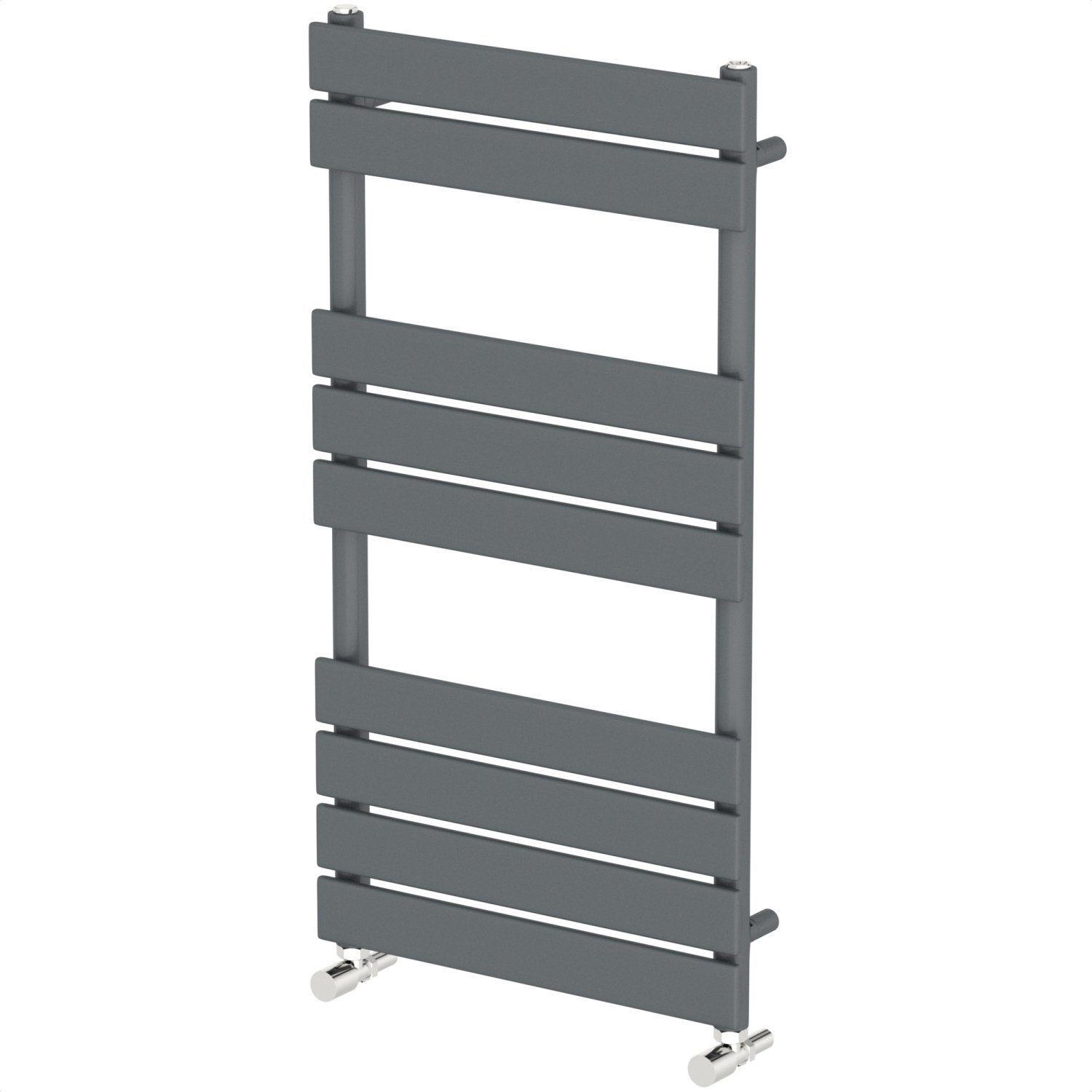 DuraTherm Modern Bathroom Flat Panel Heated Towel Rail Radiator Anthracite 950mm x 500mm