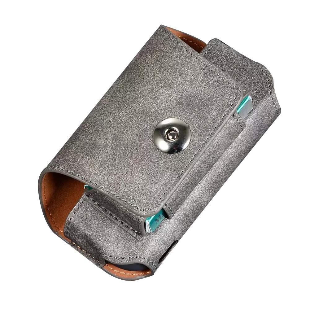 con clip o fibbia in pelle PU Custodia per sigaretta elettronica IQOS 3.0 DrafTor colore nero