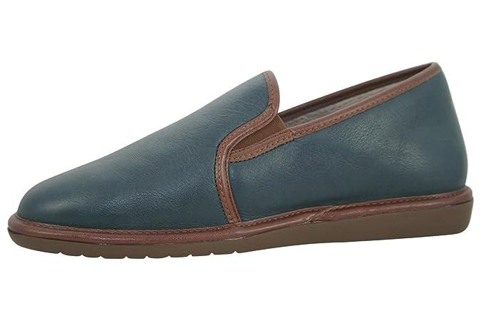 Nordikas - Zapatillas de estar por casa de cuero para hombre: Amazon.es: Zapatos y complementos