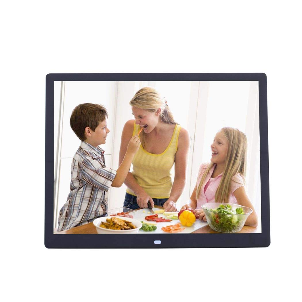 WW&C 15 InchDigital Picture Frame, Widescreen Display 1024x768, Plays Video and Photo SlideshowsDigital Photo Frame with SD Card Slots Remote Control by WW&C