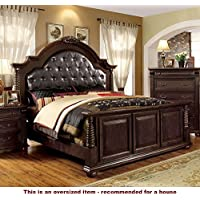 247SHOPATHOME Idf-7711EK Bed-Frames, King, Cherry