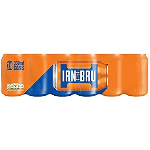 IRN-BRU Soft Drink Cans, 330 ml, Pack of 24