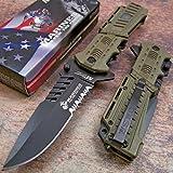 Usmc Marines Desert Spring Assisted Opening Tactical Rescue Folding Pocket Knife
