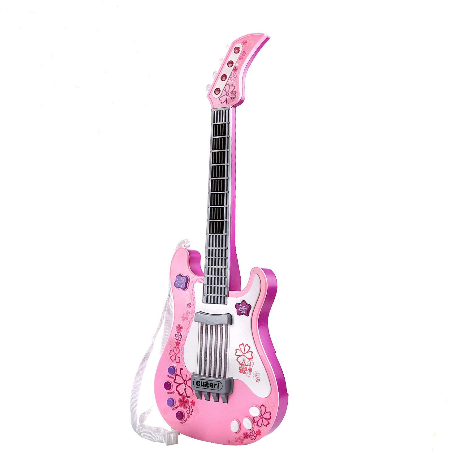 M SANMERSEN Guitar Toys for Kids with Vibrant Sounds No String-RO (Pink) by M SANMERSEN
