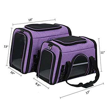 X-Zone PET Airline Approved Pet Carriers,Comes with Fleece Pads Soft Sided Pet Carrier for Dog & Cat