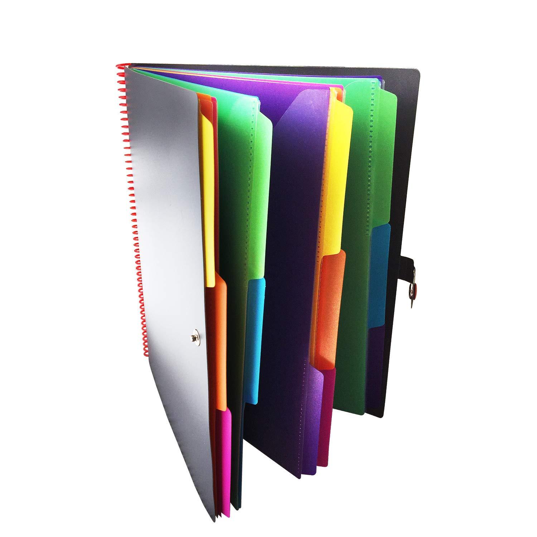 Project Organizer 24 Pocket File Folder - Letter Size by Office Ace