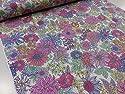 リバティ風花柄 ピンク オックス生地 |北欧風|生地|布地|綿|コットン|エプロン|ワンピース|スカート|インテリア|手作り|手芸|