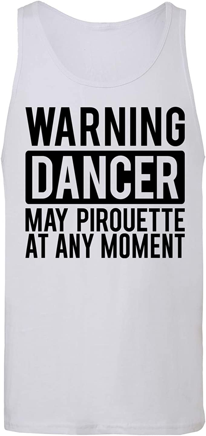 Hippowarehouse Warning Dancer May Pirouette at Any Moment Vest Tank Top Unisex Jersey
