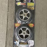 scooter Wheels Replacement Set 100mm 90A Wheels Black Liquid Metal