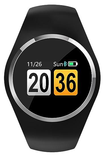 Fitness Tracker - Reloj inteligente Bluetooth para hombres, mujeres, frecuencia cardíaca, presión arterial