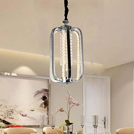 jaula para pájaros lámpara de cristal Creativo Salón lámpara de ...