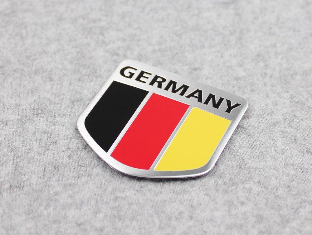 Generic Car Alloy Metal German Germany Flag Chrome Side Rear Emblem Badge Decal Sticker