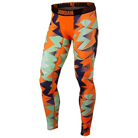 8f2705338259c2 Jordan Mens Dri-Fit Nike All Season Retro 7 Training Tights-Bright Mango-