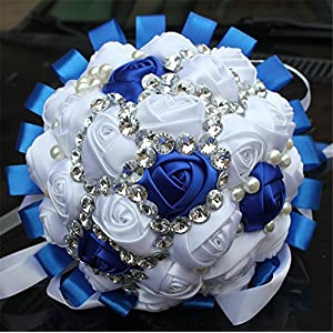 FYSTORE Dignified elegance Advanced Customization Romantic Bride Wedding Holding Bouquet Roses Multi-color Selection 18CM 88