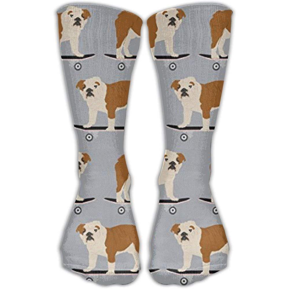 Bag hat English Bulldog Skateboard Boys Compression Socks For Wome And Men,