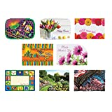 Hoffmaster 857205 Spring Seasonal Occasions Placemats, 8 Designs per Case, 9-3/4'' x 14'', Printed (8 Packs of 125)