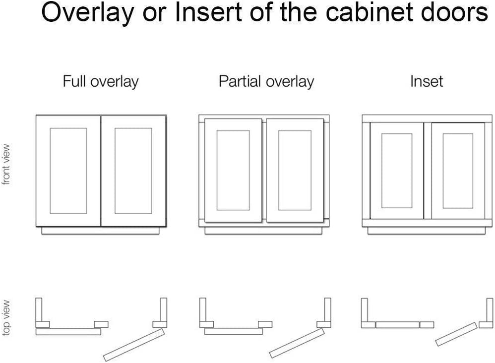 Full Overlay TamBee 175 Degree Hinges Frameless Cabinet Doors Hinges Hydraulic Adjustable Mounting Hinges Soft Closing Stainless Steel Buffer Dampers for Wardrobe,2 Pairs