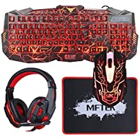 Keyboard Headset Mftek Microphone Computer Features