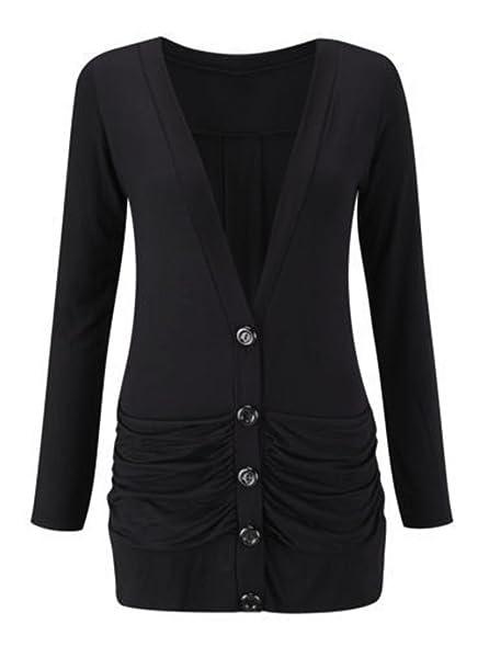 GirlzWalk ® Ladies Women Long Sleeve Boyfriend Top Button Up ...