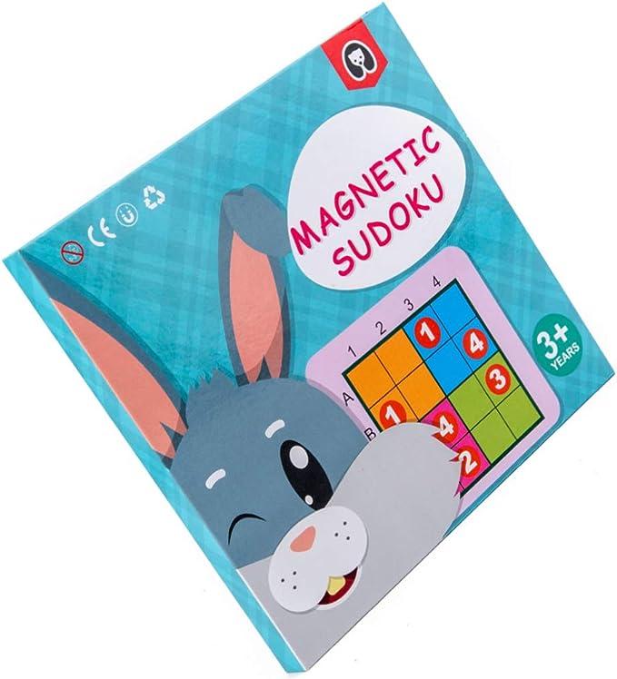 TOYANDONA Juego de Mesa de Rompecabezas Sudoku Magnético Juego de Ingenio Matemático Juego de Escritorio Juego de Pensamiento Numérico para Niños Adultos: Amazon.es: Juguetes y juegos