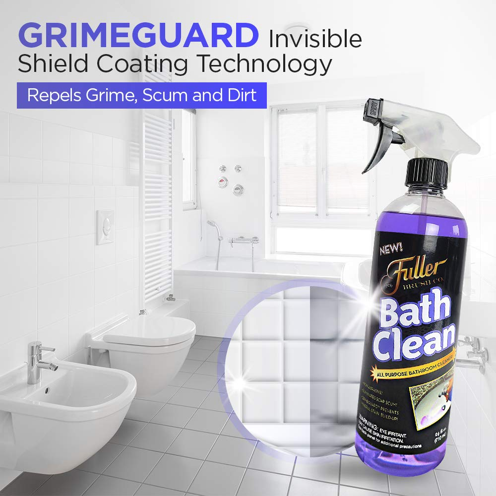 Fuller Brush Bath Clean - Dissolves Tough Soap Scum & Hard Water Stains - Contains Grimegaurd - 24 oz by Fuller Brush (Image #3)