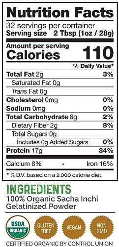 Sacha Inchi – Polvo de proteínas orgánico, certificado Vegan ...