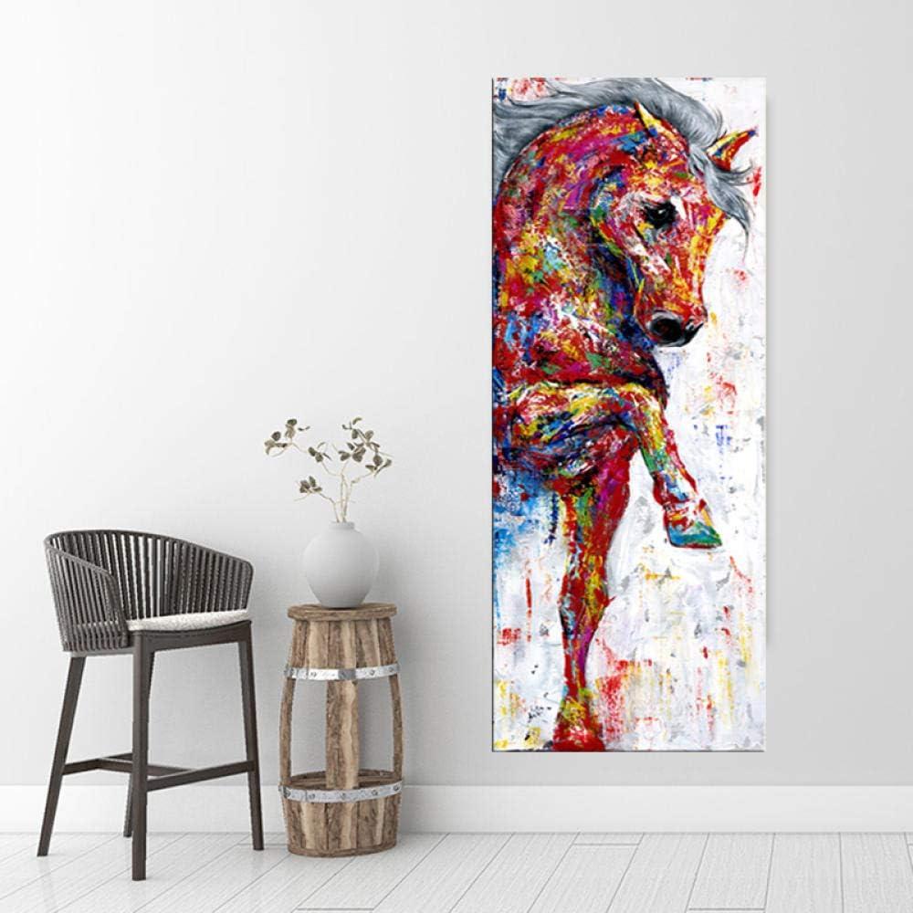 DXNB Pintura al óleo Arte del Caballo Cuadros Abstractos Modernos de la Pared para la Sala Impresiones de Carteles de Animales Cuadros Decorativos Vintage Sin Marco 50x150cm sin Marco Sin Marco rh567